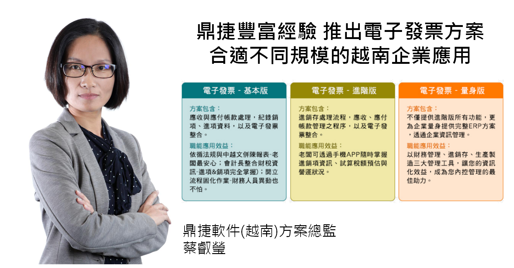 蔡叡瑩方案總監